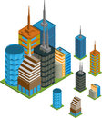 Isometric buildings Stock Photos