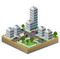 Isometric city Royalty Free Stock Photography