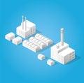 Isometric city of industry