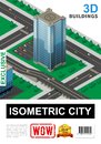 Isometric Cityscape Poster Royalty Free Stock Photo