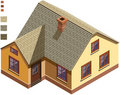 Isometric Cottage Stock Photos