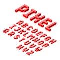 Isometric 3d pixel font