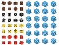 Isometric dice number lucky game fortune casino variants loss gamble cube vector illustration. Royalty Free Stock Photo