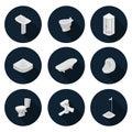 Isometric flat icons sanitary ware