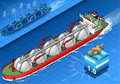 Isometric gas tanker ship in navigation detailed illustration of a this illustration is saved eps with color space rgb Royalty Free Stock Photography