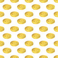 Isometric gold. Seamless pattern US dollar.