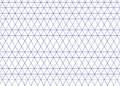 Isometric grid blue. Triangle line background vector.