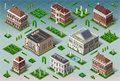 Isometric historic american building detailed illustration of a this illustration is saved in eps with color space in rgb Stock Photo