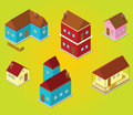 Isometric houses illustration of some Royalty Free Stock Photos
