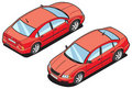 Isometric image of a car Royalty Free Stock Photography