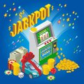 Isometric Jackpot Concept Royalty Free Stock Photo