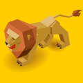 Isometric lion isometric vector illustration Stock Image