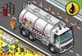 Isometric liquid tanker truck in front view detailed illustration of a this illustration is saved eps with color space rgb Royalty Free Stock Image