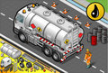 Isometric liquid tanker truck in rear view detailed illustration of a this illustration is saved eps with color space rgb Stock Photo
