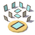 Isometric low poly Picture Frame