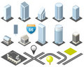 Isometric map toolkit downtown Stock Image