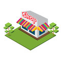 Isometric medium shop isolated vector Stock Image