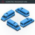 Isometric minibus car