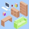 Isometric office set
