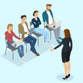 Isometric people briefing Royalty Free Stock Photo