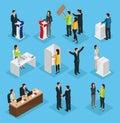 Isometric People Election Set
