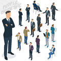 Isometric people in office