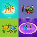 Isometric People Recreation Concept