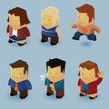 Isometric People Set Stock Images