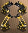 Isometric Photograph - Bobcat Excavator w Royalty Free Stock Photo