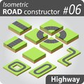 Isometric road constructor Royalty Free Stock Photo