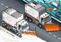 Isometric snow plow truck in front view detailed illustration of a this illustration is saved eps with color space rgb Royalty Free Stock Image