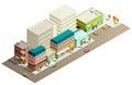 Isometric Store Buildings Concept