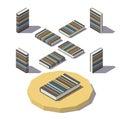 Isometric Stripe Print Book