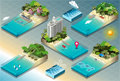 Isometric tiles of carribean holidays detailed illustration a this illustration is saved in eps with color space in rgb Stock Photo