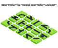 Isometric vector roads constructor Royalty Free Stock Photo