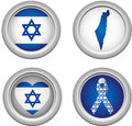 Israel Buttons Royalty Free Stock Photo