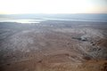 Israel the dead sea landscape from masada at dawn the dead sea is m deep the deepest hypersaline lake in the world its surface and Royalty Free Stock Images