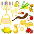 Israel festival object easy to edit vector illustration of Stock Photography
