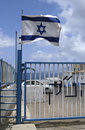 Israel Flag at Lebanon Border Royalty Free Stock Photos