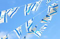 Israel Flags on Independence Day Royalty Free Stock Photo