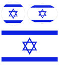 Israel flags Royalty Free Stock Photo