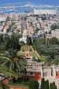 05.02.2016. Israel, Haifa. Bahai Gardens The Baha`i Temple. Mount Carmel. Royalty Free Stock Photo