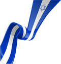 Israel ribbon flag isolate on white Stock Photos