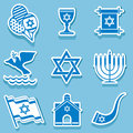 Israel symbol set icons of sign and Royalty Free Stock Image