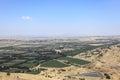 Israel Syria Border from Mount Bental, Golan Royalty Free Stock Photo