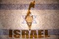 Israel vintage map Royalty Free Stock Photo