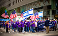 Israeli Day Parade in New York City Stock Photos
