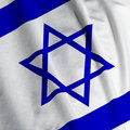 Israeli Flag Closeup Stock Image