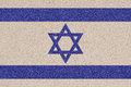 Israeli flag made of colored decorative sand israel Royalty Free Stock Photography