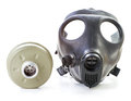 Israeli gas mask filter white background Royalty Free Stock Photography